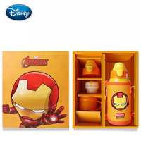 Disney exquisite straw cup set stainless steel portable primary school cup large capacity baby cup birthday gift