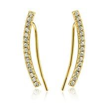 Dormith Women's 925 sterling silver  AAA cubic zirconia  fashion drop earrings 18K gold plated