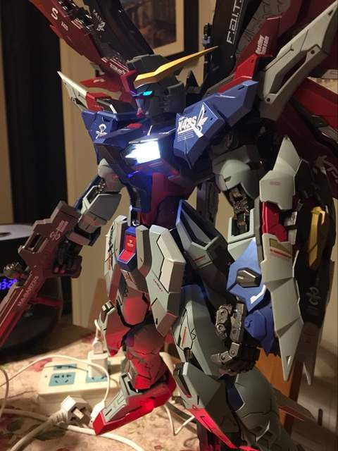 US $195 0 |MODEL FANS INSTOCK hotstudio Seed Destiny Gundam metal build mb  PG 1/60 destiny gundam contain led light toy action figure-in Action & Toy