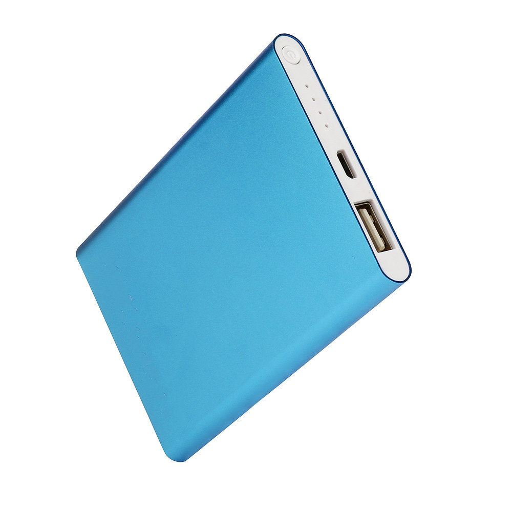 2018 new Ultrathin 8000mAh Power Bank Mobile Phone Chargers Portable USB Charger For Smart Cell Phones Includes a charging cable