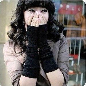 Fashion Lovely Skin care Fingerless arm Mitten Long Sleeve Gloves Winter Gloves Warm Winter Gift Free Shipping
