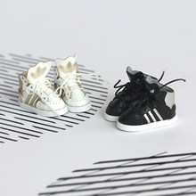1Pair High Quality Fashion Brand Doll's High Tops Skater Shoes for Blyth, JerryBerry, Azone, Momoko, Pullip, ob11, 1/6 BJD Doll(China)