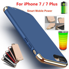 Luxury Ultra-thin Charger Case For iPhone 7 / 7 Plus 2500mAh / 3500mAh Power Bank Case External Pack Backup Battery Back Cover