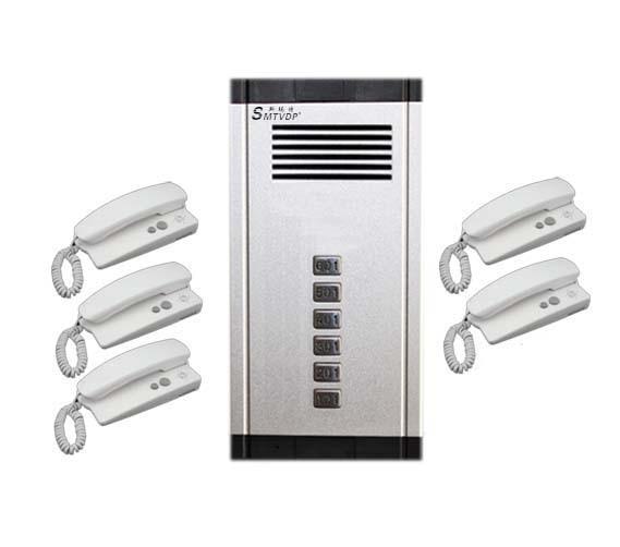 SMTVDP New Arrival Audio Door Phone Intercom System 5-way Audio Doorbell,New Design Indoor Unit Unlock Function+Free Shipping
