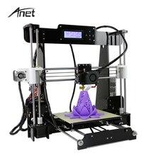 Anet A8 Auto y Normal de la Impresora 3d Reprap Prusa I3 Arcylic del Tamaño Grande de Alta Precisión Impresora 3D DIY Kit + filamento + Tarjeta SD + LCD + Semillero