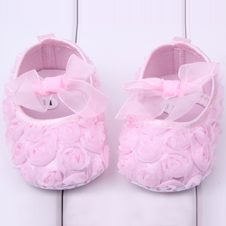 0-1 year old baby toddler shoes rose shoes autumn soft bottom princess shoes newbron girls first walkers YB482
