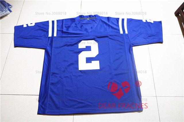 brand new a88fc ca34a Cheap Shirt for Mens American Football Jerseys Cam Newton #2 Westlake High  School Throwback Jerseys Retro Blue Stitched