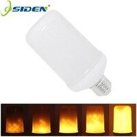 OSIDEN LED Flame Effect Fire Light Bulbs E27 E26 2835 7W Creative Lights Flickering Emulation Vintage
