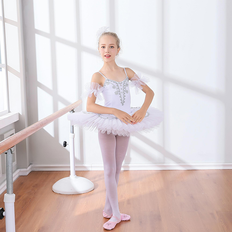 цены 2018 winter hot sales girls cami leotard ballet dress kids teenage lace professional ballet tutu dress costumes party swan lake