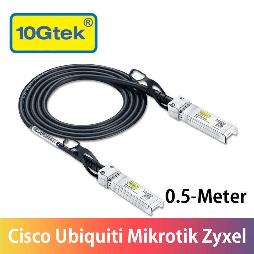10G 0.5M SFP+ DAC Cable 10GBASE-CU Passive Direct Attach Copper Twinax SFP Cable 30AWG For Ubiquiti Mikrotik Zyxel Arista Etc.