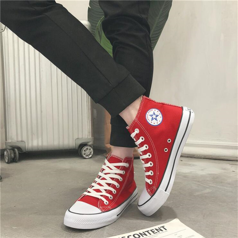 2019 Men 39 s Casual Shoes Sneakers Summer Canvas Breathable Comfortable Unisex Shoes Loafers footwear High Top Lover 39 s Flats in Men 39 s Casual Shoes from Shoes