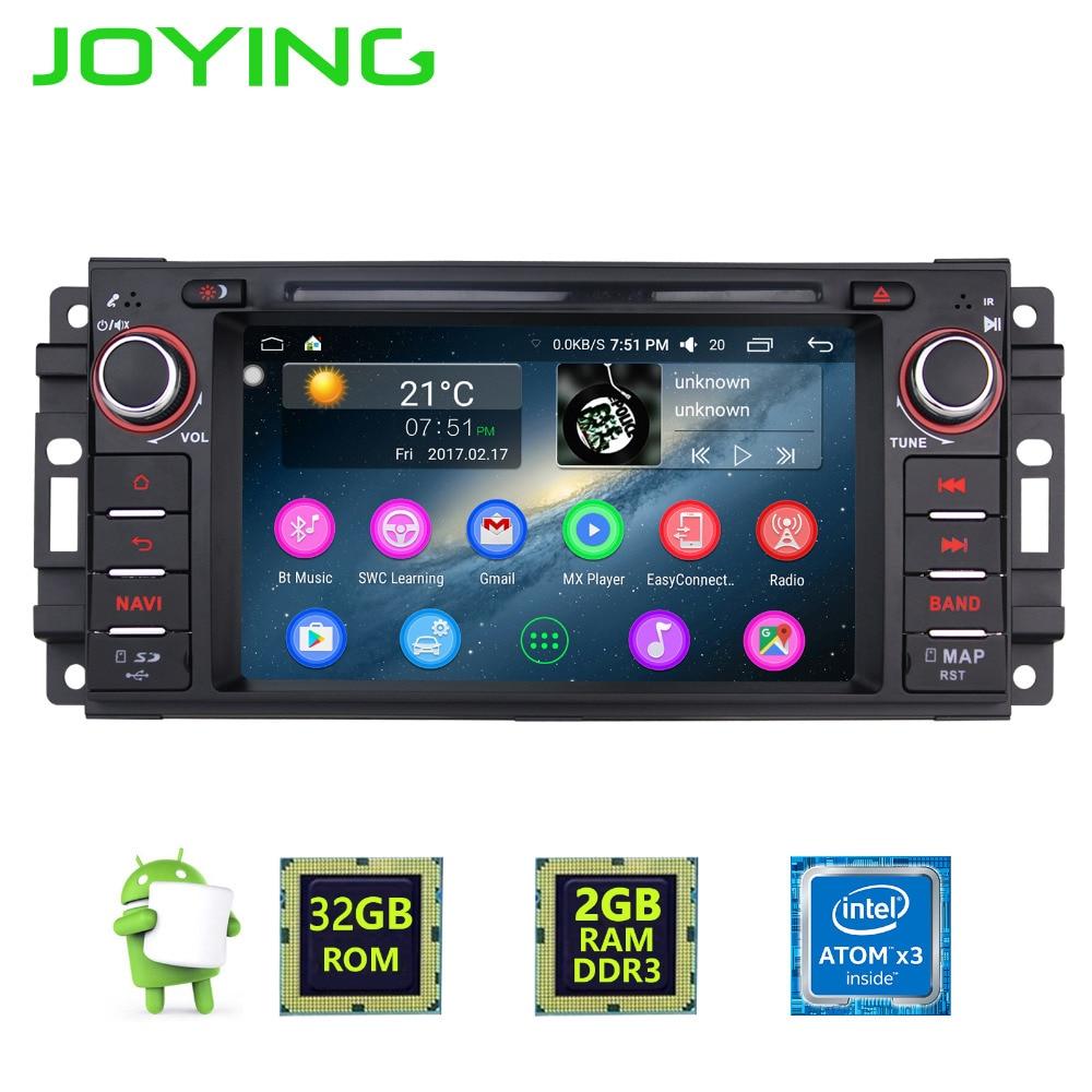 JOYING 2GB RAM Android 6.0 Car Audio HU stereo for JEEP WRANGLER Radio GPS system for Grand Cherokee head unit for Dodge Avenger