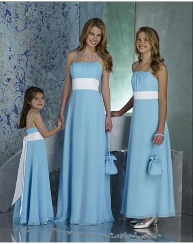 Vestido azul festa mae e filha