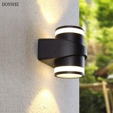 5 Вт/10 Вт современный светодиодный настенный светильник с двойной головкой Водонепроницаемый IP65 крыльцо сад настенный светильник для коридора двор наружное освещение