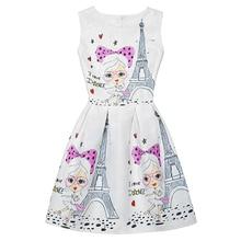 Летние платья для девочек, платья принцессы для девочек, дизайнерское вечернее платье с принтом бабочки и цветов для подростков, детская одежда
