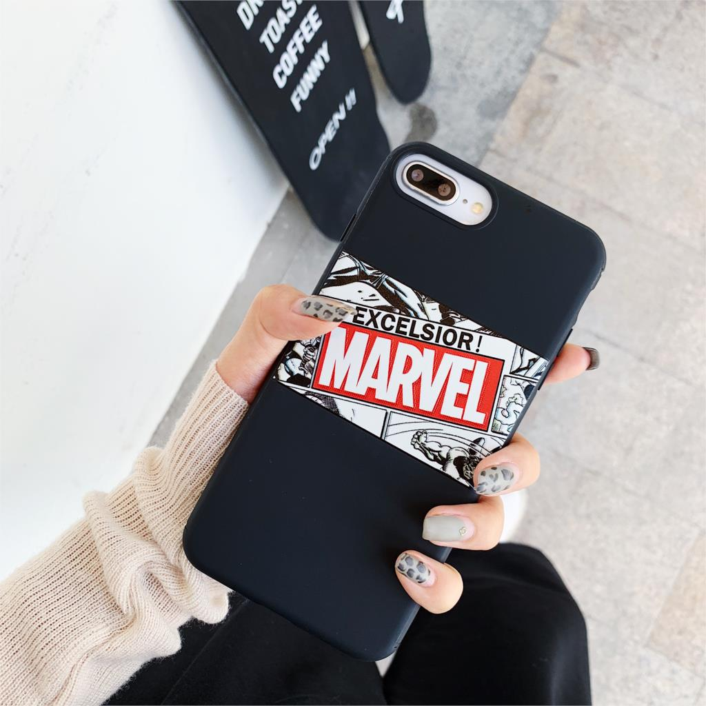 3D Relief Candy Couples Funda Luxury Marvel Pattern Phone Case for iphone X XR XS Max 6 6S 7 8 Plus 10 Cover Soft Silicone Coque in Fitted Cases from Cellphones Telecommunications