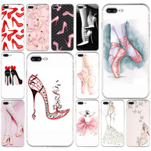 High heels heeled shoes ballerina Soft TPU Silicone Cover Case For Apple iPhone5 5s se 6 6s 7 8 plus x xr xs max coque(China)