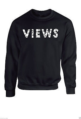 2017 new fashion Men views letter printing Hoodied sweatshit harajuku hip hop male Drake View from 6 Sweat Crew Neck