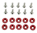 10 Pcs/Pack JDM Style Aluminum Fender Washers and Bolt for Honda Civic Integra RSX EK EG DC