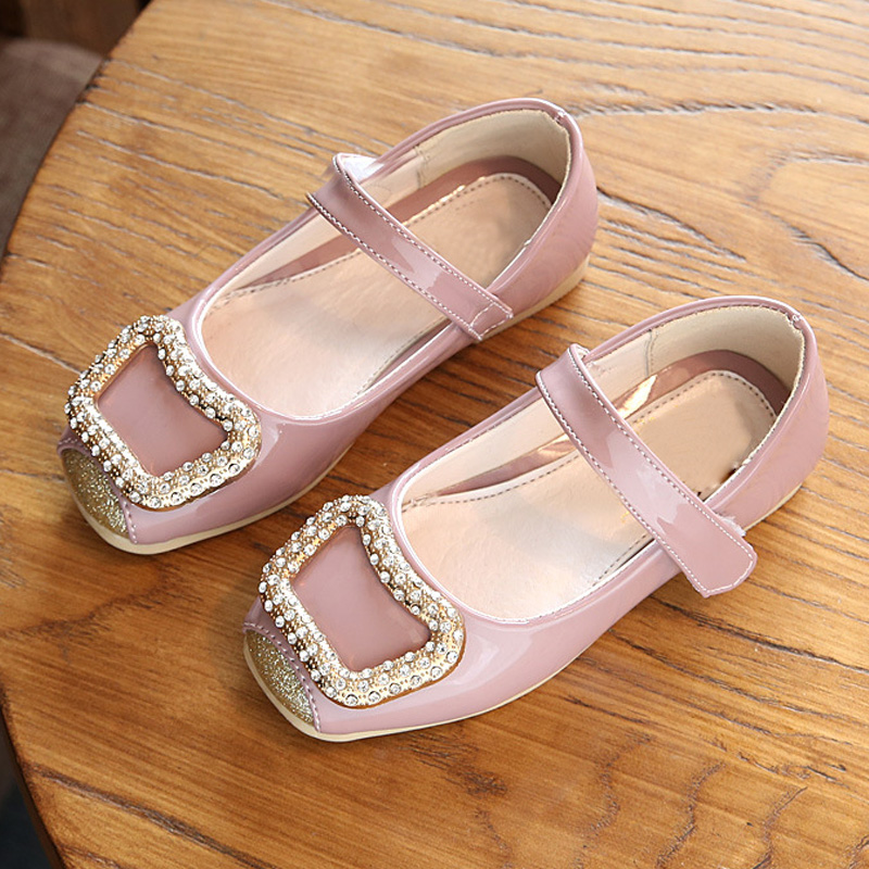 Spring Autumn Children Shoes Girls Shoes Fashion Diamond Princess Girls Shoes PU Leather Kids Shoes for Girl