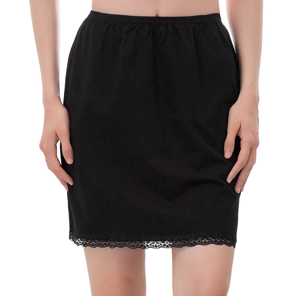 New Commuter Office Ladies Skirt Lady Crinoline Milk Silk Lace Elastic Waist Half Slip Petticoat Skirts Underskirt Dropshipping(China)