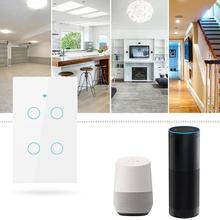 Us Wifi Smart Switch 4 Gang Wall Press Light Works With Alexa Google Home Mini Ifttt Life Tuya App