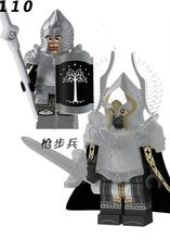 Single Sale XP138 Fountain Guard Action Figure Soldier of Gondor Knight Spear Sword Building Blocks Bricks Toys(China)