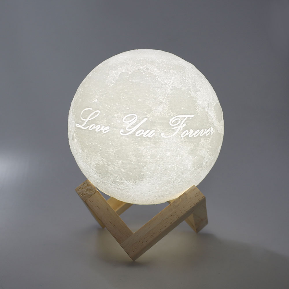 3D Stampa Luna luce di notte di Tocco Interruttore Camera Da Letto Libreria Luce di Notte 12 cm 15 cm 20 cm 22 cm Della Novità decorazioni per la Casa lampada Creativa