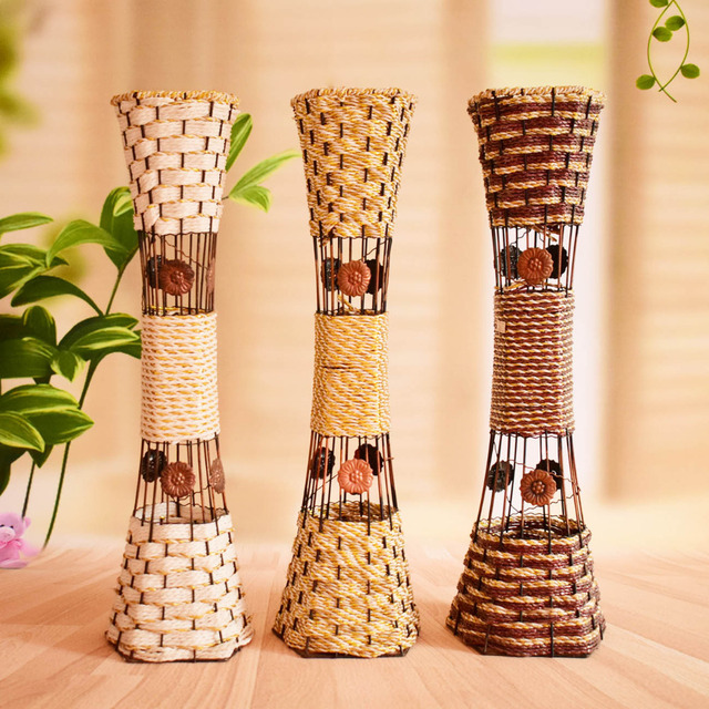 Buy large tall modern metal artificial for Modern living room vases