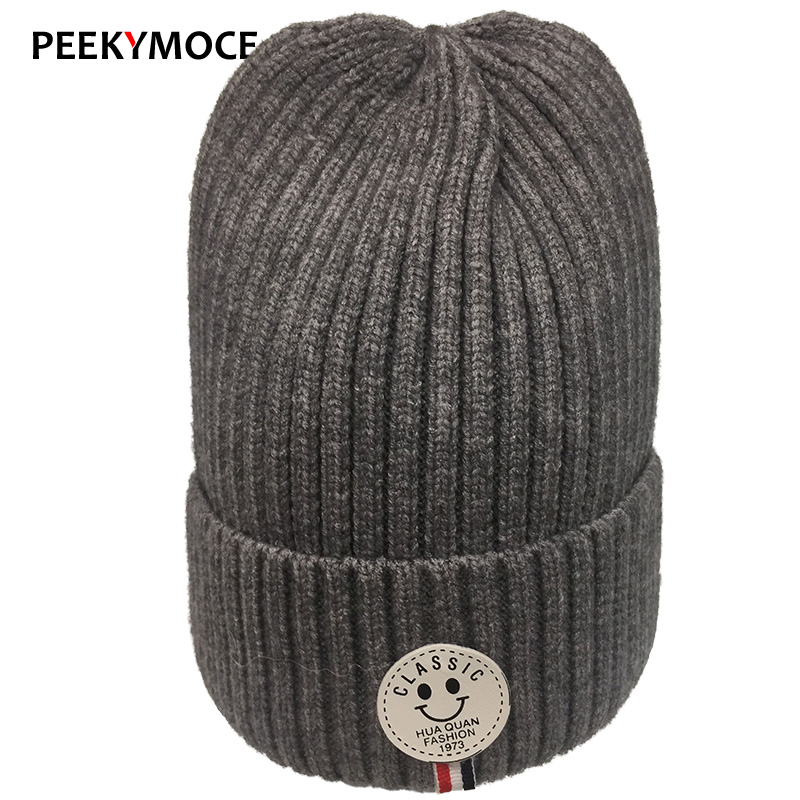 Peekymoce 2017 New Winter hat Knitted Hats Gorro Beanie For Women  Beanies Hat Bonnet Outdoor Sport Skiing Keep Warm  Cap 2016 limited gorro gorros brand new women s cotton hip hop ring warm beanie cap winter autumn knitted hats beanies free shipping