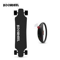 Koowheel أحدث تحديث moterized longboard سكيتبورد الكهربائية محرك كهربائي مزدوج مع البعيد تحكم