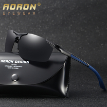 2017 AORON Men Polarized Sunglasses Aluminum Magnesium HD Driving Goggle Male UV400 Glasses Night Vision Brand Designer Eyewear