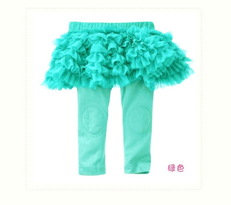 Hp-01; обтягивающие длинные однотонные леггинсы для маленьких девочек с оборками; юбка для От 0 до 3 лет - Цвет: LIGHT GREEN