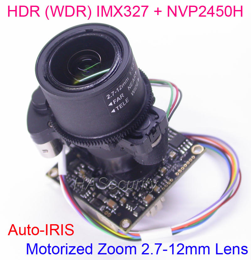 HDR WDR motorized Zoom 2 7 12mm LENs AHD H 1 2 8 Sony STARVIS IMX327