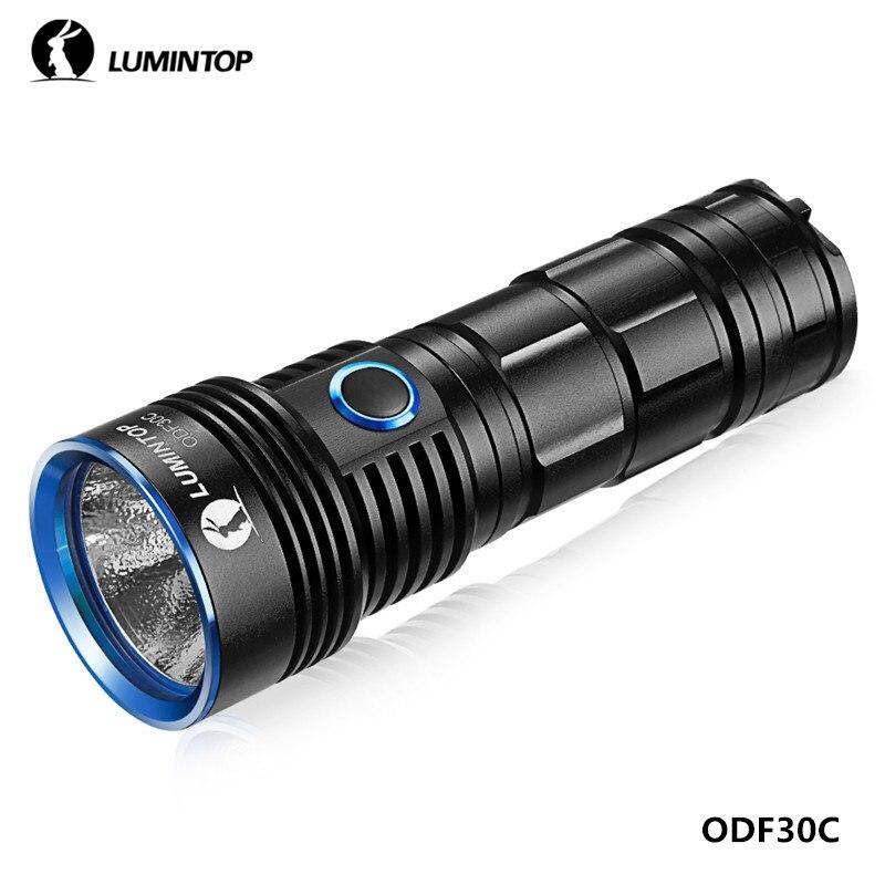 LuminTop ODF30C recargable Cree XHP 26650 3500lm de alta intensidad Camping de senderismo al aire libre linterna con luz estroboscópica SOS reflector - 5