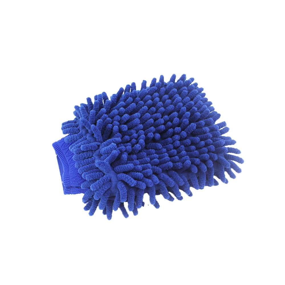 Car Cleaning Glove Blue Double Side Microfiber Car Wash Gloves For Auto Window Washing Rag Drying Towel Detailing Tool
