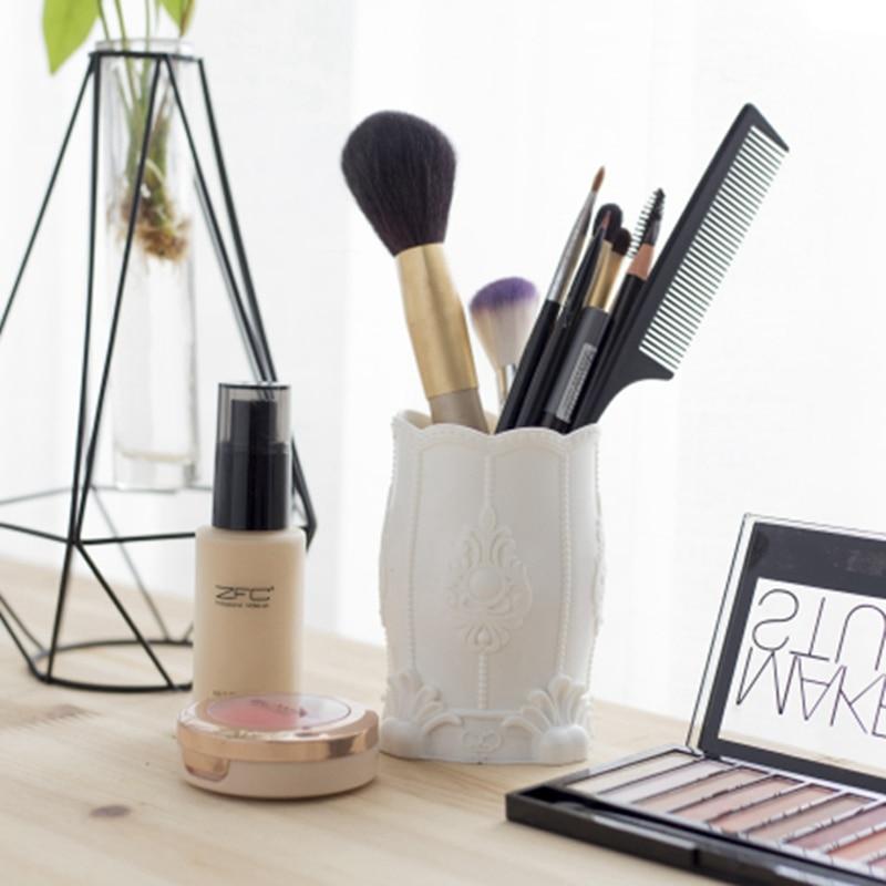 Europeiskt mönster Kreativa Pen Vase Penna Pot Makeup Penselhållare - Hemlagring och organisation