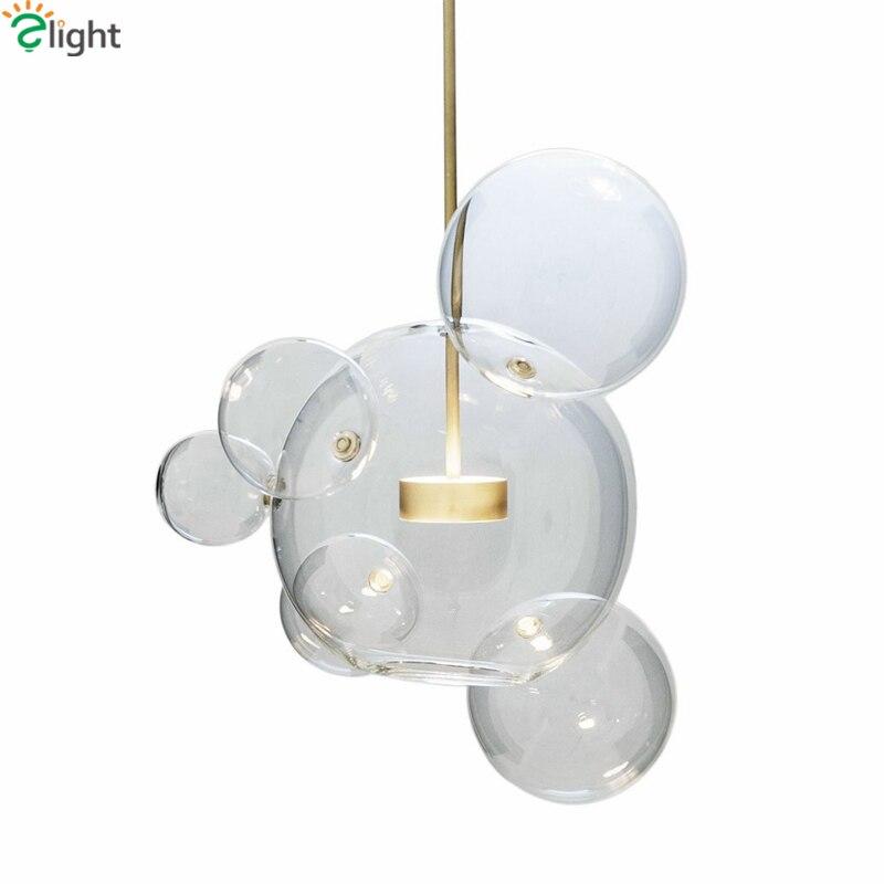 Modern Bolle Lamp Led Pendant Light Glass Globe Led