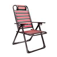 Складной стул здоровья дышащие пляжные балкон шезлонг эластичный шнур Лежащего офисные обеденный перерыв стул Нескользящие