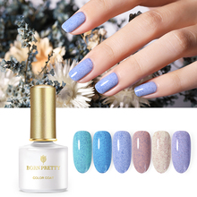 BORN PRETTY 6ml Nail Gel Polish Blue Purple Shimmer Sequins