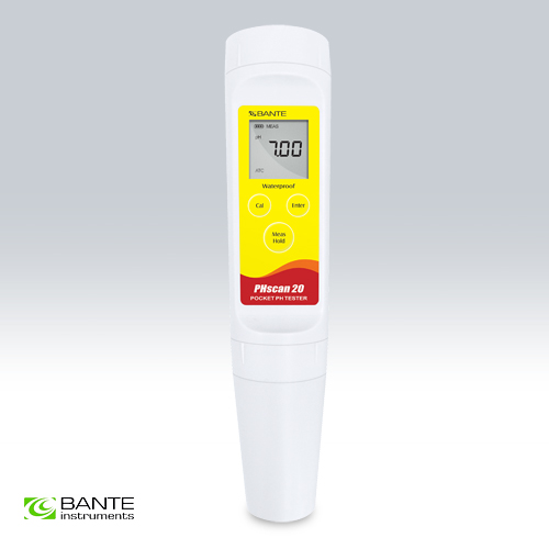 BRAND BANTE Waterproof pocket pen type pH tester meter For Conventional Liquid  2 points cal 0.00~14.00pH High Accuracy 0.05 genuine brand waterproof economical pocket digital ph tester pen type ph meter high quality dough meat skin paper semisolid food