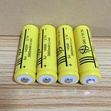 DING Ли Ши Цзя 10 шт. 14500 Батарея 3,7 В 3800 мАч литий-ионные аккумуляторы и светодио дный фонарик AA Батарея