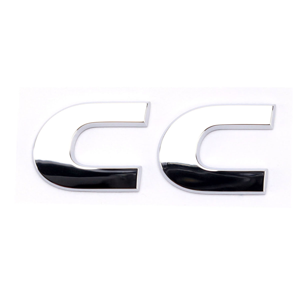 OEM Silver Chrome Rear Trunk Lid Emblem Sticker Decal Badge CC for VW Volkswagen Passat CC soarhorse for ford kuga chrome abs decal car rear trunk lid letters badge logo emblem sticker