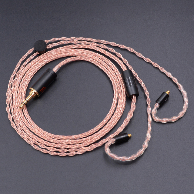Hot NICEHCK 3.5mm MMCX Cable 8-core 7N Single Crystal Copper Cable Use For Shure SE535 UE900 DZ7 DZ9 DZX MaGaosi K3 LZ A4 LZ A5