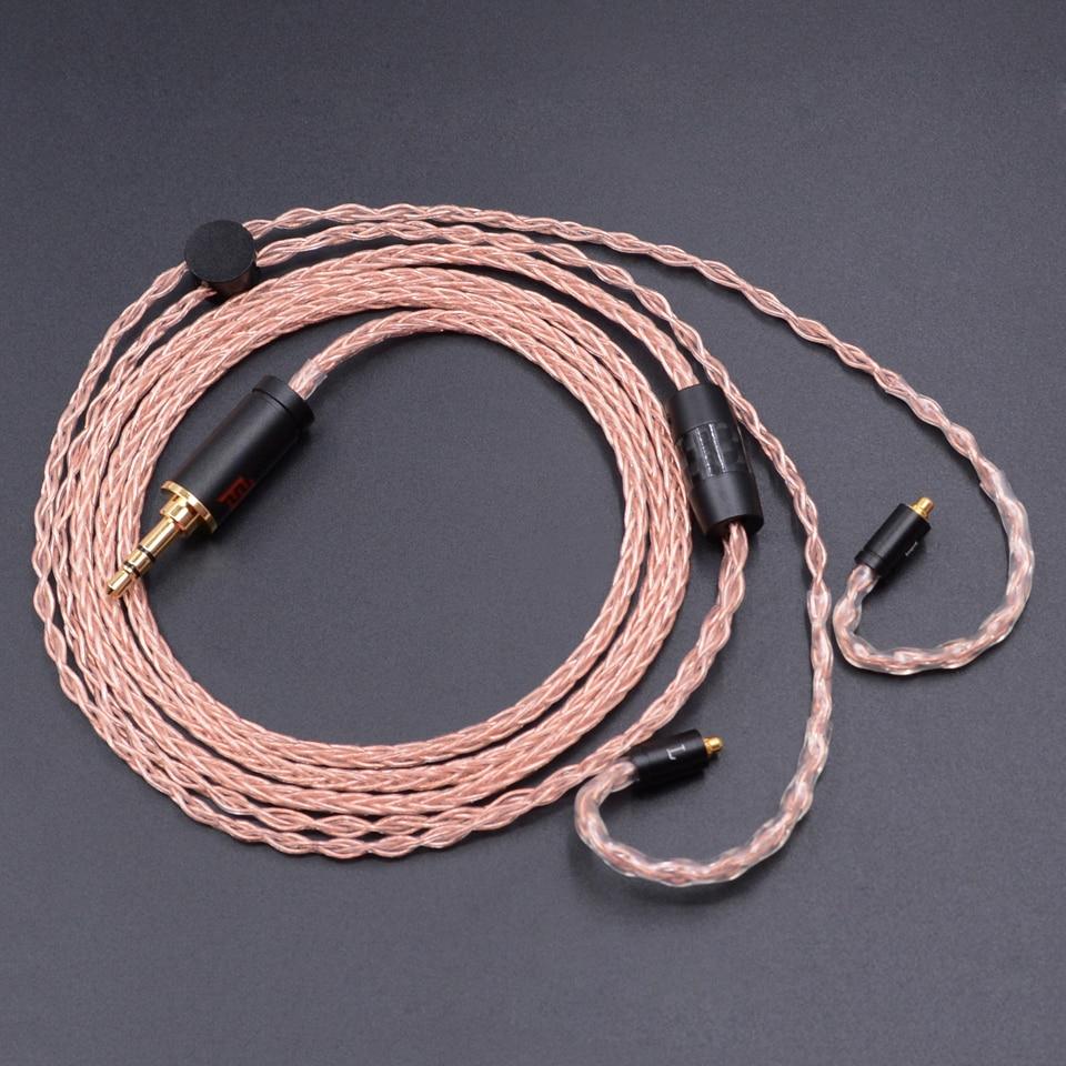 NICEHCK 3.5/4.4/2.5mm Équilibrée MMCX/2Pin Connecteur 8-core 7N Unique Cristal De Cuivre Câble Pour SE535 LZ A5 ZS10 NIECHCK EBX HK6