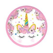10pcs 7inch diameter 18cm Unicorn design Paper Plates for Kids Birthday Party Decoration Supplies