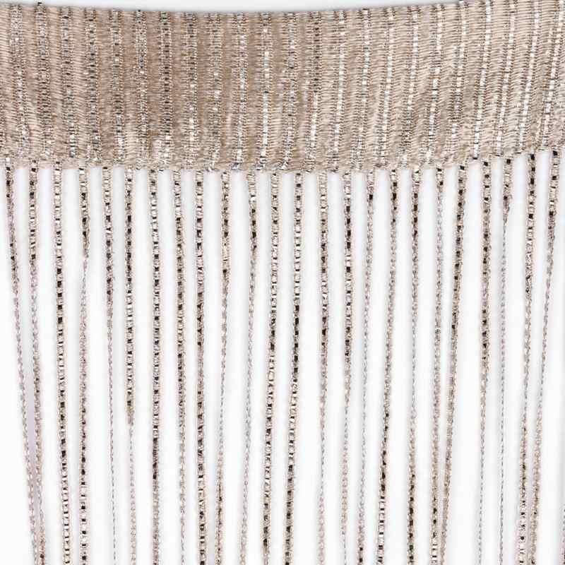 2M x 1M קריסטל חרוזים מחרוזת וילונות ציצית משי מחרוזת וילונות דלת חלון פנל Sheer וילונות אלאנס עבור סלון