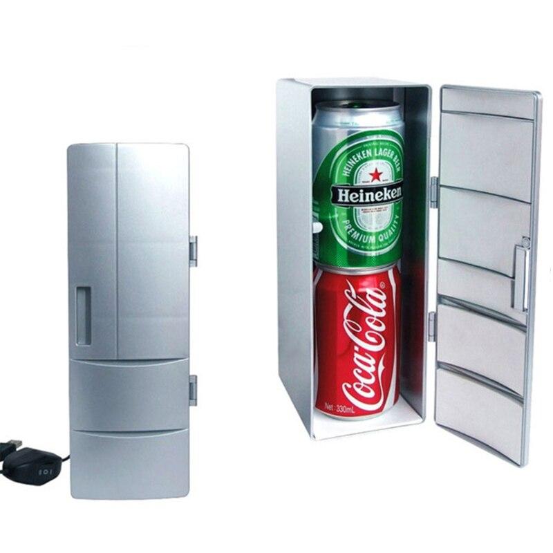 USB new generation mini fridge office table fridge cool and heating 5V 9cm*12cm*25cm