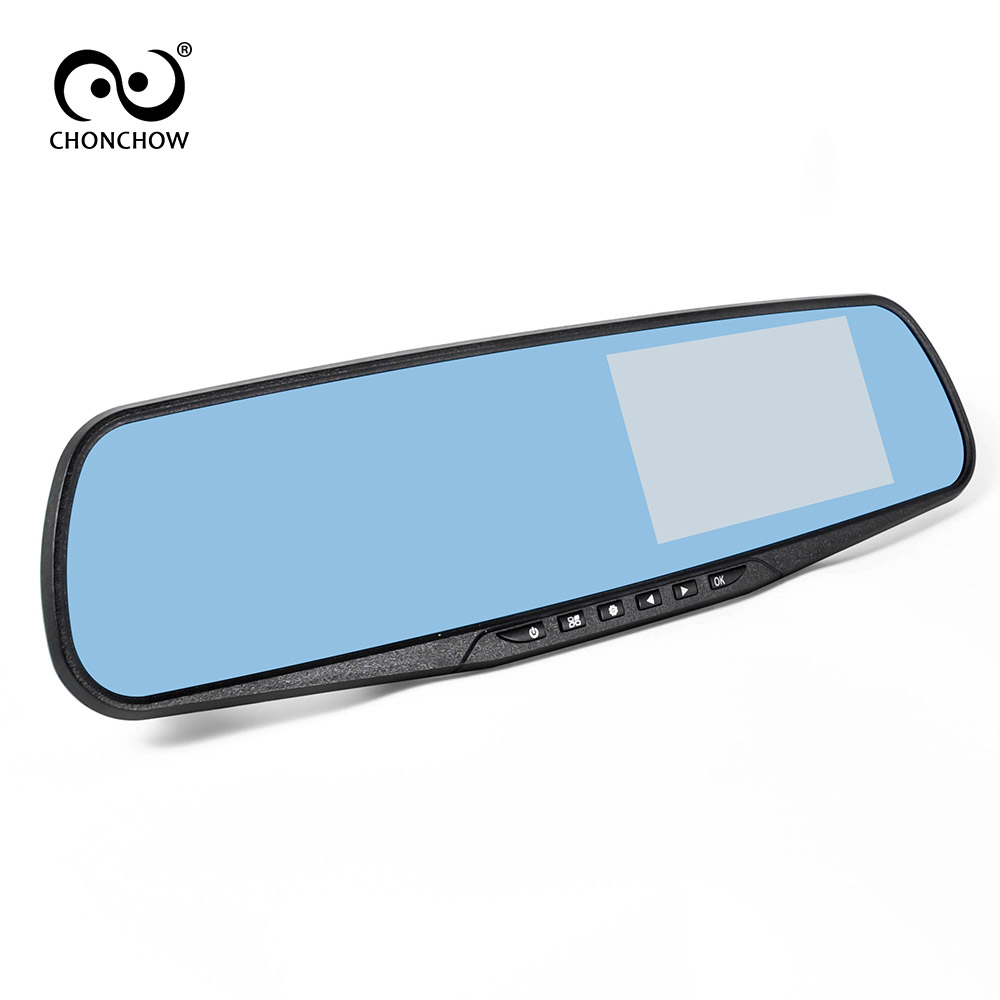 ChonChow Car Dvr Mirror Car Camera 4.3 Dash Cam Recorder Full HD 1080P Rearview 140 Degree Wide Angle Rear View Video Camcorder ...