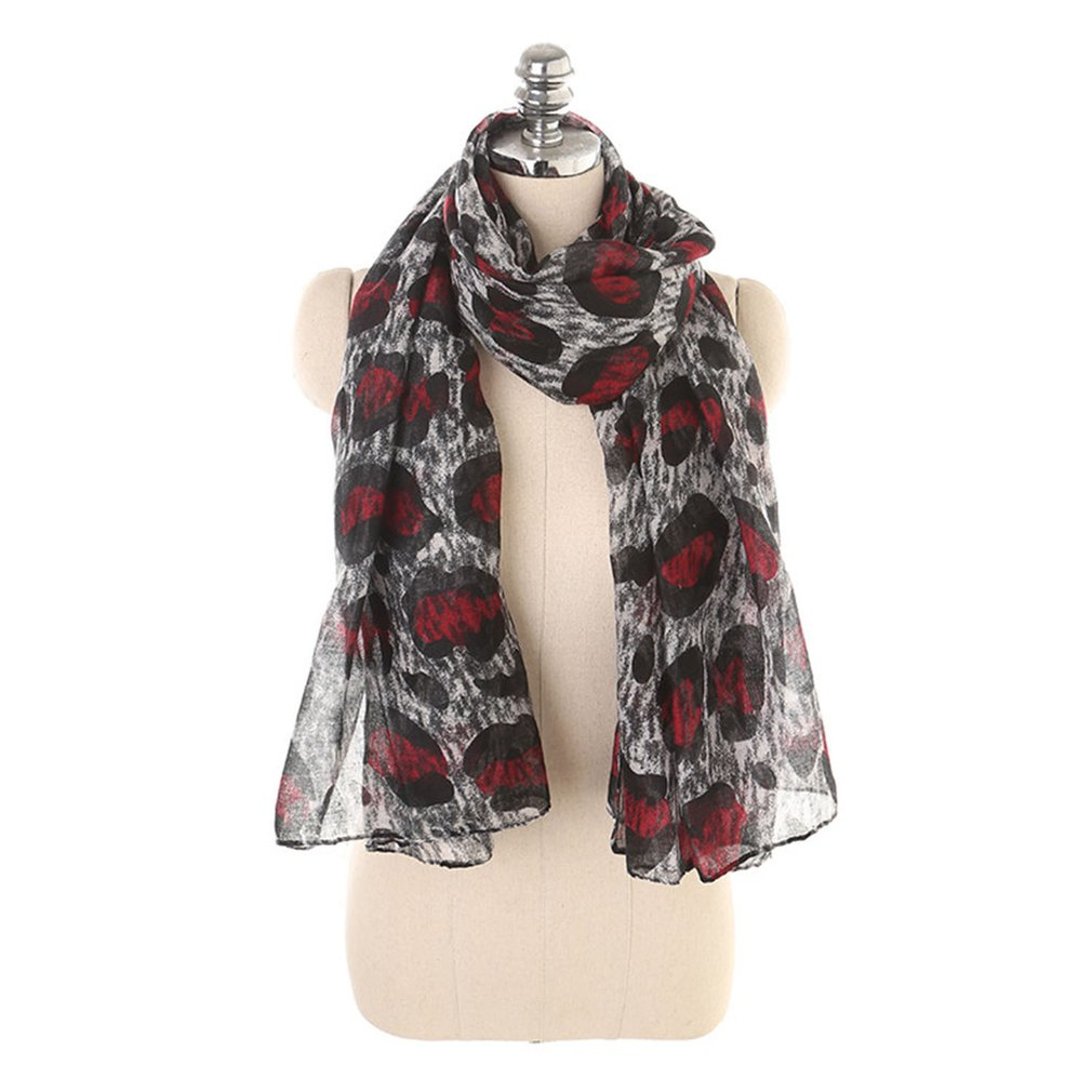 Women'Scarf Solid Color Leopard Print Large Knitted Spring Winter Women Scarf Warm Scarves Shawls Luxury Scarf Lady Wrap